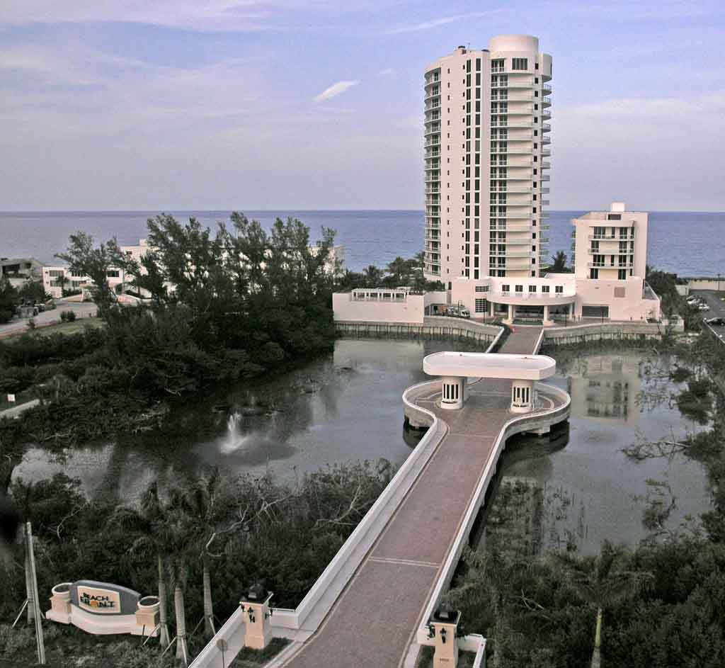 Aerial View of Beachfront entrance, Singer Island
